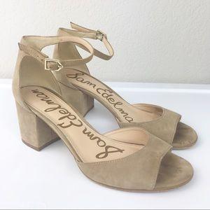 Sam Edelman Susie Ankle Strap Black Heel Sandal